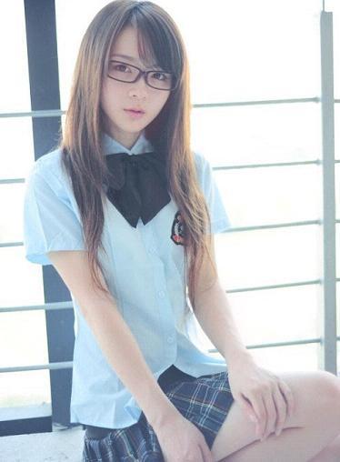 最温柔黑框眼镜美女教师 竖