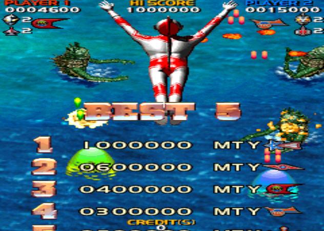 此游戏为街机模拟游戏《奥特曼飞机大乱斗》