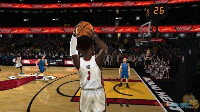 搞怪篮球游戏《nab嘉年华》(球员采用真实的形象,但却是大头娃娃,看