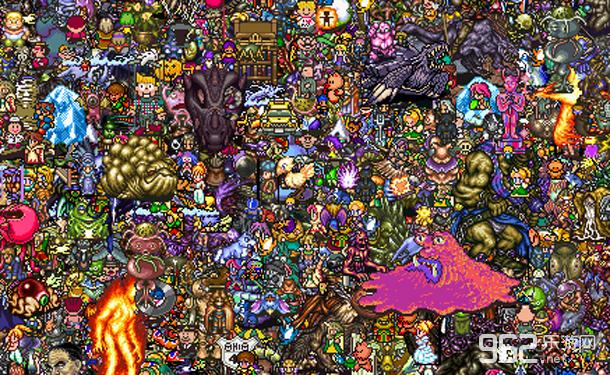 SNES时代13000名游戏角色整合图