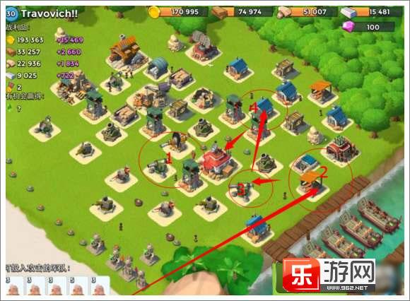 手机游戏 → 海岛奇兵12本布阵攻略  如何破解: 1,多管火箭炮配合火炮