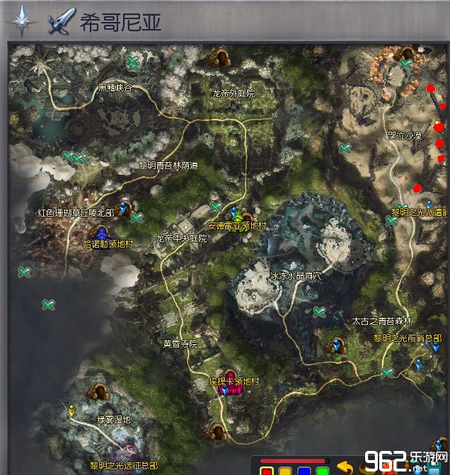 永恒之塔新地图希哥尼亚刷60级复合魔石路线图详细
