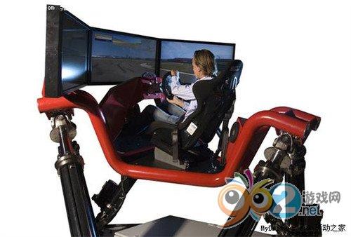 DIY高手自制液压悬挂赛车游戏器模拟器