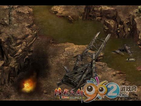 """图片: 图片2:《降龙之剑》""""义海情天""""-上古战场到处散落着战争武器.jpg"""