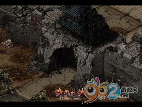 """图片: 图片3:《降龙之剑》""""义海情天""""-战后的残垣断壁.jpg"""